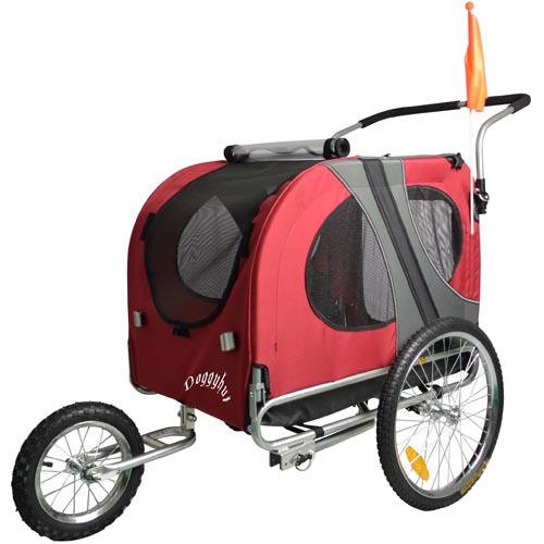 large dog pet bicycle trailer jogger jogging stroller in. Black Bedroom Furniture Sets. Home Design Ideas