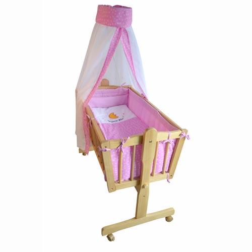 babywiege babybett stubenwagen schaukelwiege wiege babybett gelb blau rosa ebay. Black Bedroom Furniture Sets. Home Design Ideas