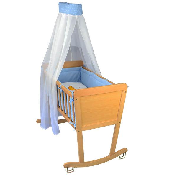 komplette babywiege schaukelwiege stubenwagen wiege beistellbett babybett inkl ebay. Black Bedroom Furniture Sets. Home Design Ideas