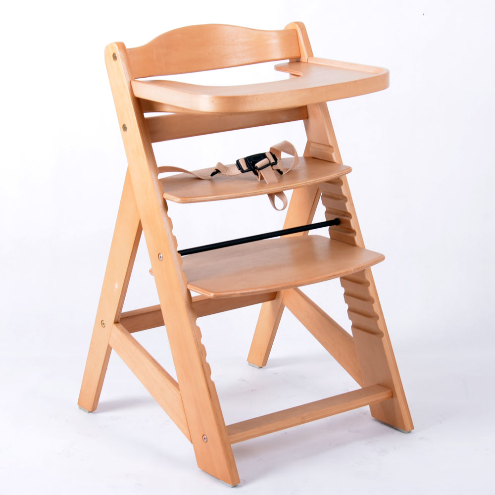 treppenhochstuhl kinderhochstuhl babystuhl babyhochstuhl kinderstuhl natur ebay. Black Bedroom Furniture Sets. Home Design Ideas