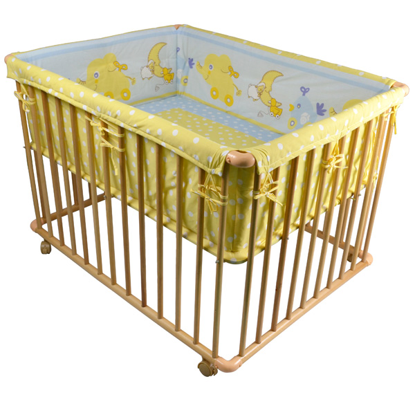 100x75cm-Wooden-Playpen-Baby-Playpen-with-Mattress-and-Bumber-NEW