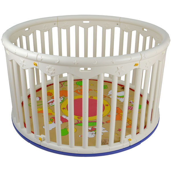 luxus baby laufgitter laufstall kunststoff rund neu ovp ebay. Black Bedroom Furniture Sets. Home Design Ideas