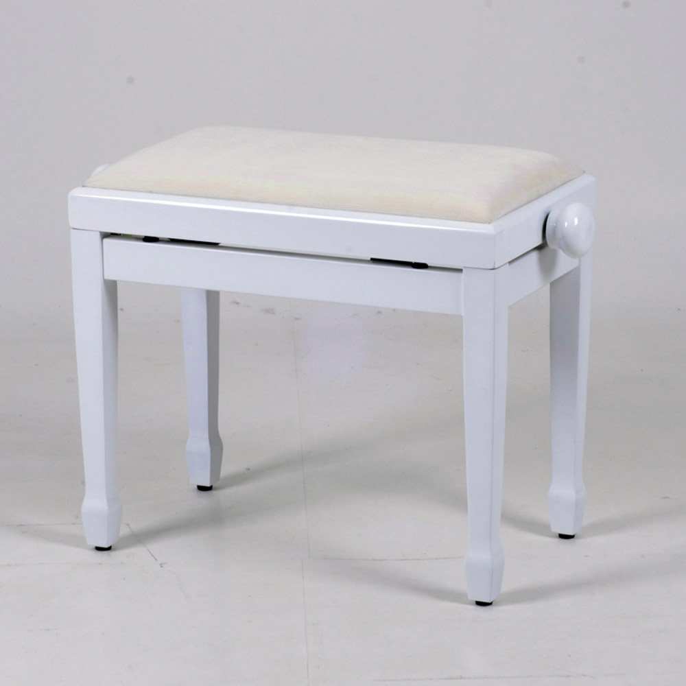 Classic Adjustable Piano Stool Digital Keyboard Piano Bench Black White Or Beech Ebay