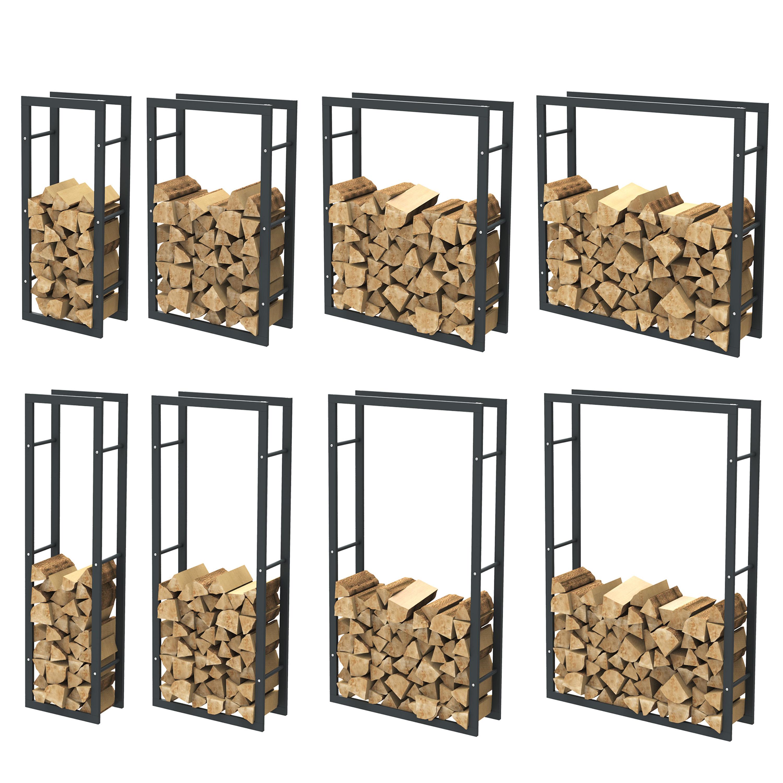 kaminholzregal brennholzregal feuerholzregal kaminholzst nder kaminholzhalter ebay. Black Bedroom Furniture Sets. Home Design Ideas